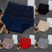 Sexy Lace High-waist Cheeky Panty Slimming Tummy Control Briefs Lingerie V5O8