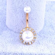 Crystal Rhinestone Tassel Dangle Button Belly Navel Ring Body Piercing Jewelry