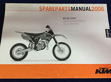KTM 85 SX 17/14 2006 CHASSIS SPARE PARTS MANUAL:
