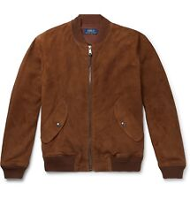 Polo Ralph Lauren Suede Bomber Jacket 2XL XXL Brown $870.00