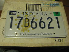 2002 02 INDIANA IN LICENSE PLATE NATURAL STICKER - DEKALB COUNTY 17B6621