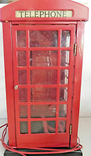 Telephone British Style Red Phone Booth Metal Old Replica English London