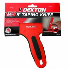 Dekton 200mm Taping Knife Soft Grip Stainless Steel Blade Plastering Drywall