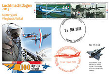 """PAF13-8T1 FDC NETHERLAND """"60 years French Patrol / ALPHAJET & MIRAGE 2000"""" 2013"""