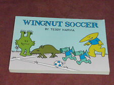 Wingnut Soccer by Teddy Harvia 1986 sf alien soccer SIGNED Hugo Award fan artist
