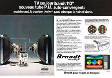 PUBLICITE  advertising1976   BRANDT  téléviseur éléctronique ( 2 pages)