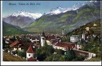 Merano Meran Südtirol Italien Cartolina 1928 gelaufen Veduta da Maia Alta Totale