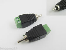 10x Phono RCA Male Plug TO AV Screw Terminal Plug Connector CCTV Video AV Balun