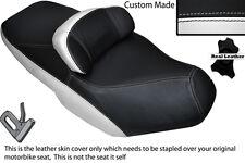 BLACK & WHITE CUSTOM FITS SUZUKI AN 650 BURGMAN 02-12 DUAL LEATHER SEAT COVER