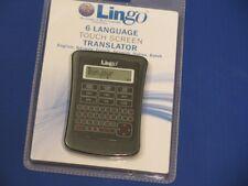 Lingo, 6-Language Touch Screen Translator.
