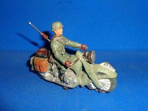 Elastolin 7cm German Motorcycle Lineol