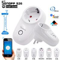 Sonoff S26 EU US UK Plug TFTTT WIFI Smart Power Socket Wireless Time APP Control