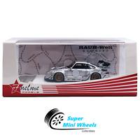 FuelMe 1/64 RWB Porsche 911 (993) Silver Phantom Poject NEZHA