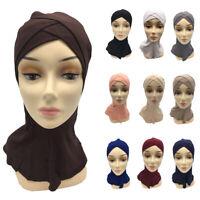 Women Full Cover Scarf Inner Ninja Cap Islam Hat Muslim Hijab Underscarf Bonnet