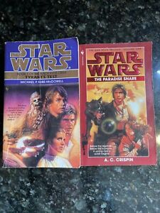 Star Wars Han Solo Paperback Books Tyrant's Test Paradise Snare 2 book Lot