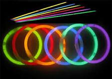 """15 Glow Sticks Bracelets Necklace Party Favors Neon Color 8"""" Festivals Rave UK"""