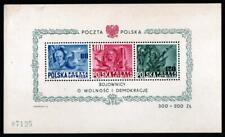 POLAND -AMERICANA, ROOSEVELT 1948 SOUVENIR SHEET M/N/H.