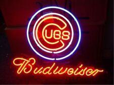 """New Budweiser Chicago Cubs Baseball MLB Bar Neon Light Sign 17""""x14"""""""