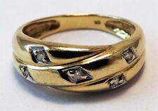 Ring Diamond Yellow Gold 9k Vintage & Antique Jewellery