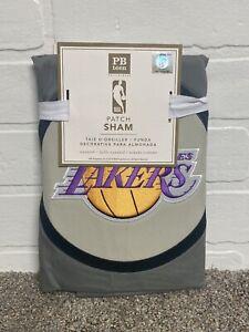 Pottery Barn Teen NBA Los Angeles Lakers Pillow Sham Gray NWT Standard Sz