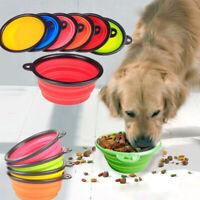 LEMFO Pet cat dog Supplies Bowl foldable Durable Silicone Pets Portable Bowl