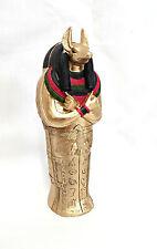 Egyptian Statue ~ Anubis Sarcophagus with Mummy ~ 13.5cm Tall