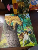 """1966 LASSIE THE DOG BOXED 100 PC PUZZLE by WHITMAN 14"""" x 18"""" COMPLETE GREAT LOOK"""