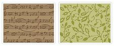 Sizzix Holly Swirls & Sheet Music Emboss 2pk set #657139 Retail $10.99 BEAUTIFUL