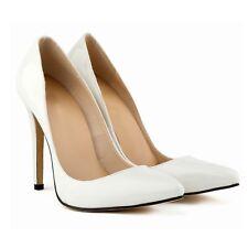 White high heels pumps Super Wedding Stiletto Heel evening patent womens Shoes 8