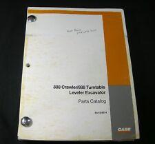 CASE 888 Crawler 888 Turntable Leveler Excavator Parts Manual Book Catalog