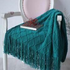 Warm Knit Textured Throw Blanket Bed Sofa Plaid Travel TV Nap Ethnic Blankets