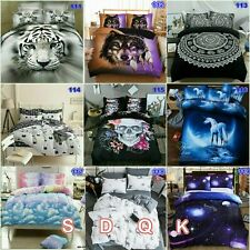 Tiger Quilt Doona Duvet Cover Set Double/Queen/King Size Galaxy Bed Pillowcases