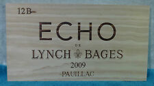 2009 ECHO DE LYNCH BAGES PAUILLAC WOOD WINE PANEL END