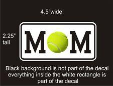 Tennis Mom car vinyl decal great stocking stuffer bumper sticker NEW