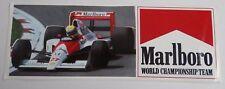 Aufkleber F1 Ayrton SENNA McLaren Honda  #27 Formula One Sticker Autocollant