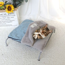 Elevated Pet Bed Dog Cat Portable Raised Camping Winter Soft Cushion Nest Kennel