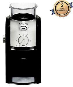 Krups GVX231 Expert Burr Coffee Grinder 17 Settings 2-12Cup Selector 225g, BLACK