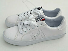 NEW! TOMMY HILFIGER WOMEN'S AVERIE WHITE LEATHER SNEAKERS SHOES 7 37 SALE