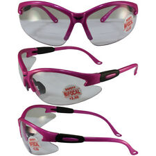Safety Shop Glasses with Hot Pink Frame and 2.5x Clear Lenses