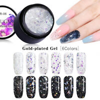 UR SUGAR Gold-plated Gel Polish Glitter Sequins UV LED Soak Off Gel Varnish Nail