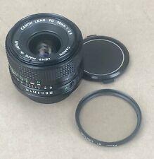 Canon FD 28mm f/2.8 Lens SLR FILM AE-1, A1 & DIGITAL CAMERAS +Both Caps/Filter