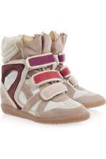 Isabel Marant leather Beckett Wedge hi top Sneakers, Multi, FR 41