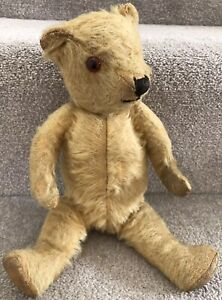 """Small Antique Vintage Chiltern Hugmee Mohair Jointed Teddy Bear British 12"""""""