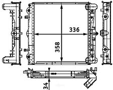 Radiator-FI Left Behr Hella Service 376714291
