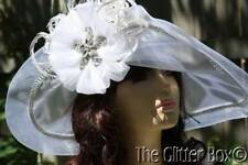 Whittall & Shon Kentucky Derby Church Special Occasion Hat White Wedding