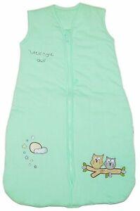 Baby Boys Girls Green Sleeping Sleep Bag 12 36 Months 3.5 Tog Owl Warm Snug