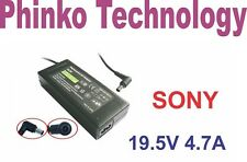 New 19.5V 4.7A Adapter Charger for SONY Vaio Laptop + Lead