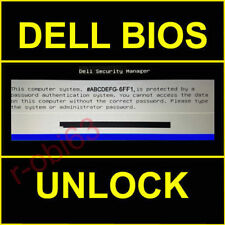 DELL BIOS PASSWORD E6400 E6510 E6420 E6440 E7440 M4800 M6800 M6600 M6500 M6400