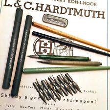 1940s L.C.HARDTMUTH CENTROPEN C2 LEADHOLDER DIP PEN LOT NIBS ANTIQUE WRITING LOT