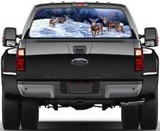 4 Deers in Winter Window Graphic Decal Sticker Truck SUV Van Car